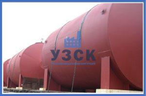 Горизонтальный резервуар РГС для ГСМ в Байконуре
